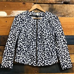 J.crew blazer animal print autumn Sz xxs